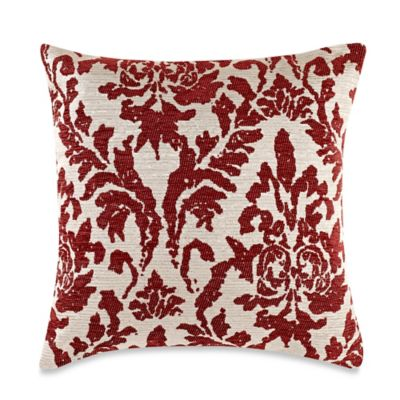 make your own pillow venice square throw pillow cover in red chilli bed bath beyond. Black Bedroom Furniture Sets. Home Design Ideas