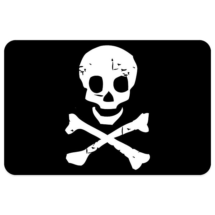 Bungalow Flooring 23-Inch x 36-Inch Jolly Roger Accent ...