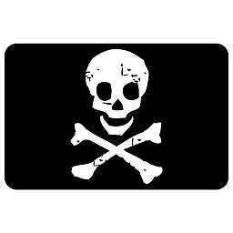 Bungalow Flooring 23-Inch x 36-Inch Jolly Roger Accent Kitchen Mat