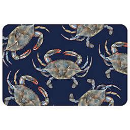Bungalow Flooring 23-Inch x 36-Inch Blue Crabs Accent Kitchen Mat
