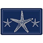 Bungalow Flooring 23-Inch x 36-Inch Nautical Sea Star Accent Kitchen Mat
