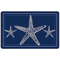 Bungalow Flooring 23-Inch x 36-Inch Nautical Sea Star Accent Kitchen Mat