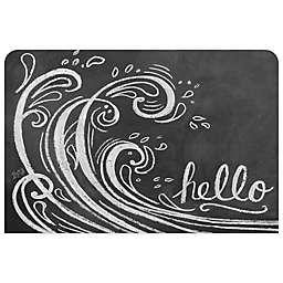 Bungalow Flooring 23-Inch x 36-Inch Wave Hello Kitchen Mat
