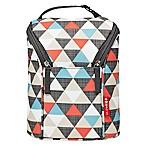 Skip*Hop® Triangles Grab & Go Double Bottle Bag in Orange/Grey/Blue