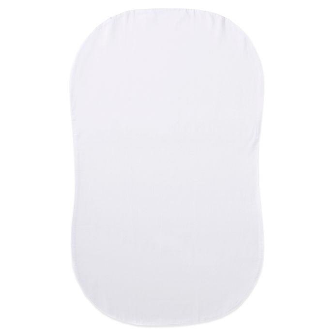Alternate image 1 for HALO® Bassinest® Organic Cotton Fitted Sheet in White