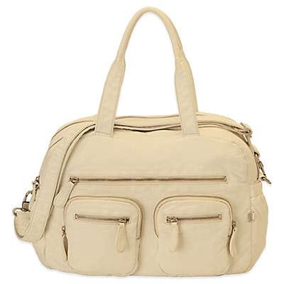 OiOi® Faux-Lizard Carry-All Diaper Bag in Almond