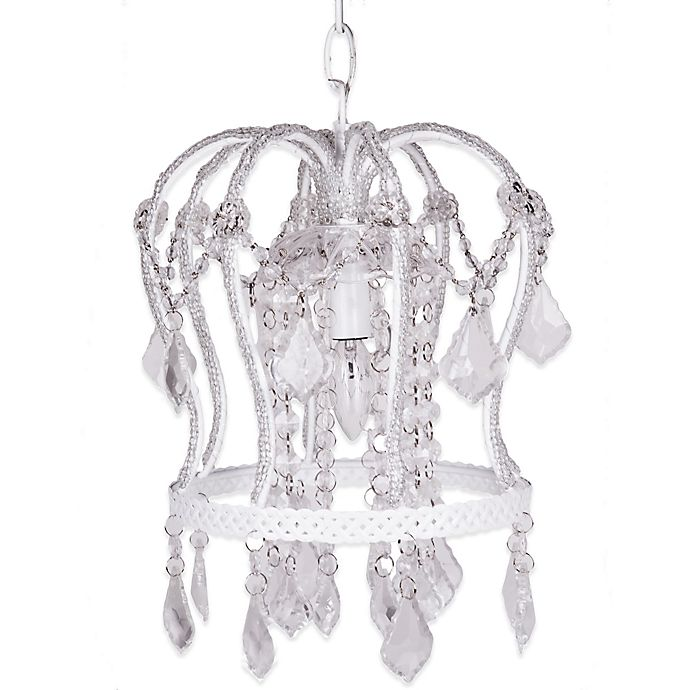 Alternate image 1 for Tadpoles™ by Sleeping Partners Crown Chandelier in White