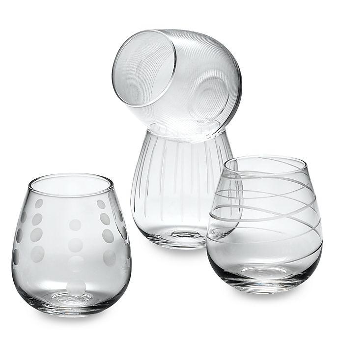 Alternate image 1 for Mikasa® Cheers 14 oz. Stemless Wine Glasses (Set of 4)