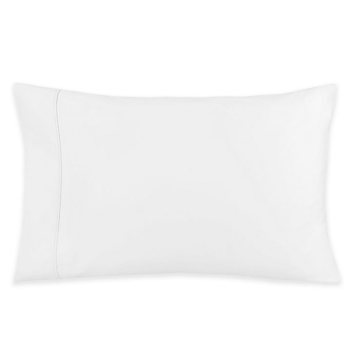 Alternate image 1 for 400-Thread-Count 35-Inch x 15-Inch Cotton Sateen King Contour Foam Pillowcase in White