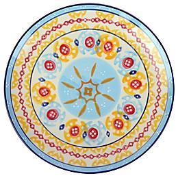 Global Handpainted Salad Plate in Cream/Blue/Multi