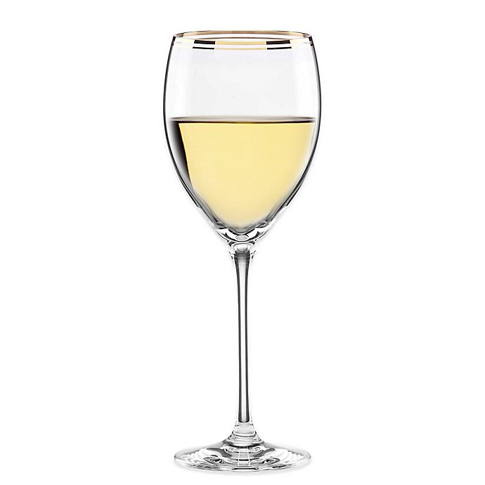 Alternate image 1 for kate spade new york Orleans Square™ Gold Wine Glass