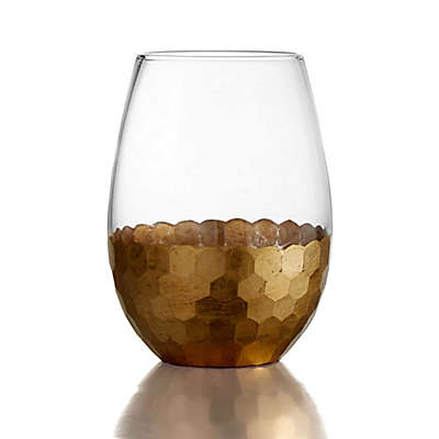 Fitz and Floyd® Daphne Stemless Wine Glasses in Gold (Set of 4)