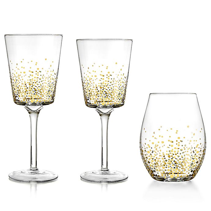 Alternate image 1 for Fitz and Floyd® Luster Gold Wine & Bar Collection