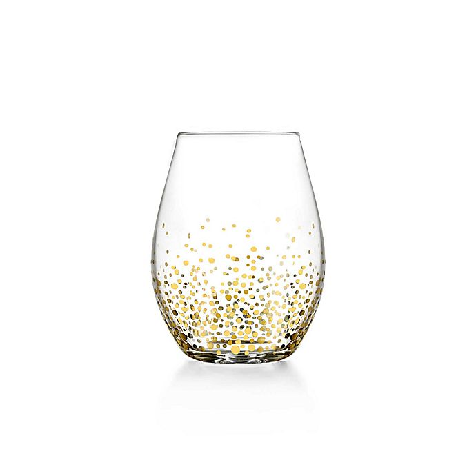 Alternate image 1 for Fitz and Floyd® Luster Stemless Wine Glasses in Gold (Set of 4)