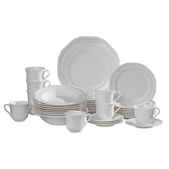 Alternate image 1 for Mikasa® Antique White 42-Piece Dinnerware Set