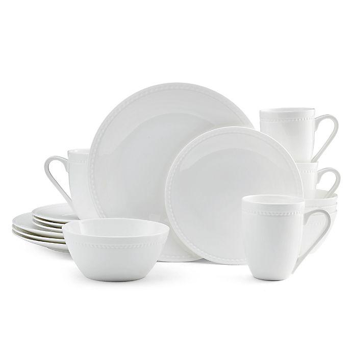 Alternate image 1 for Mikasa® Loria 16-Piece Dinnerware Set in White