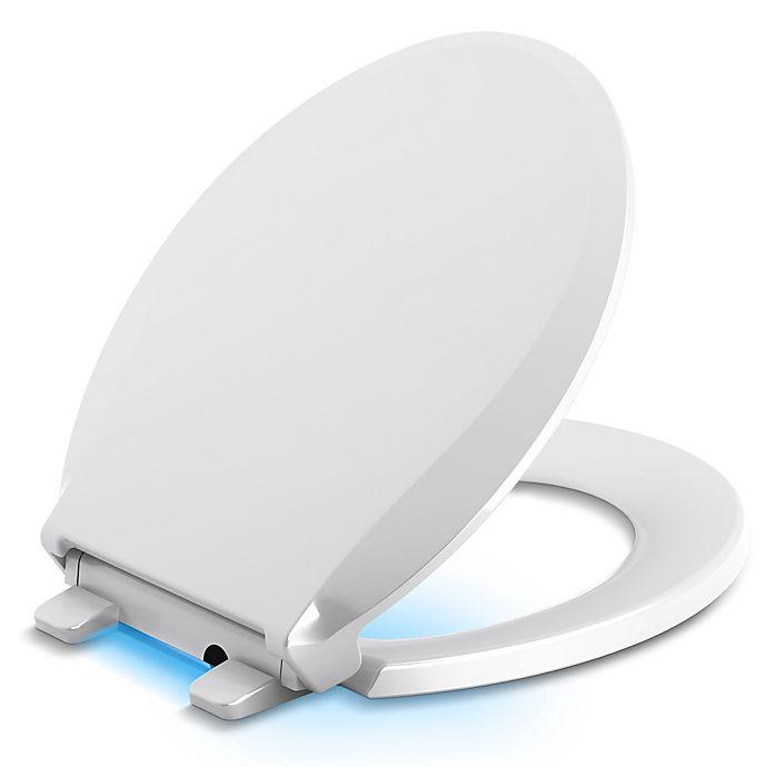 Remarkable Kohler Cachet Nightlight Quiet Close Round Toilet Seat In Machost Co Dining Chair Design Ideas Machostcouk