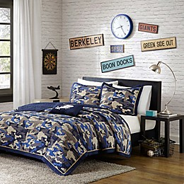 Mi Zone Reagan Animal Printed Twin/Twin XL Comforter Bedding Set in Blue