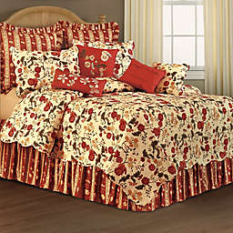 Red Carlisle Floral Reversible Quilt
