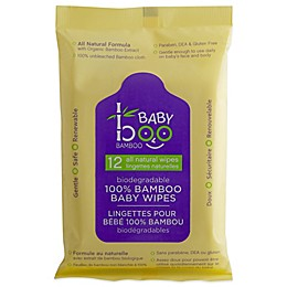 Baby Boo Bamboo 12-Count Baby Wipes