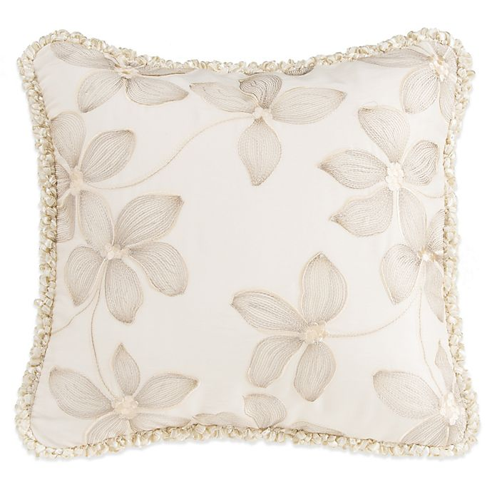 Alternate image 1 for Glenna Jean Florence Embroidered Floral Throw Pillow