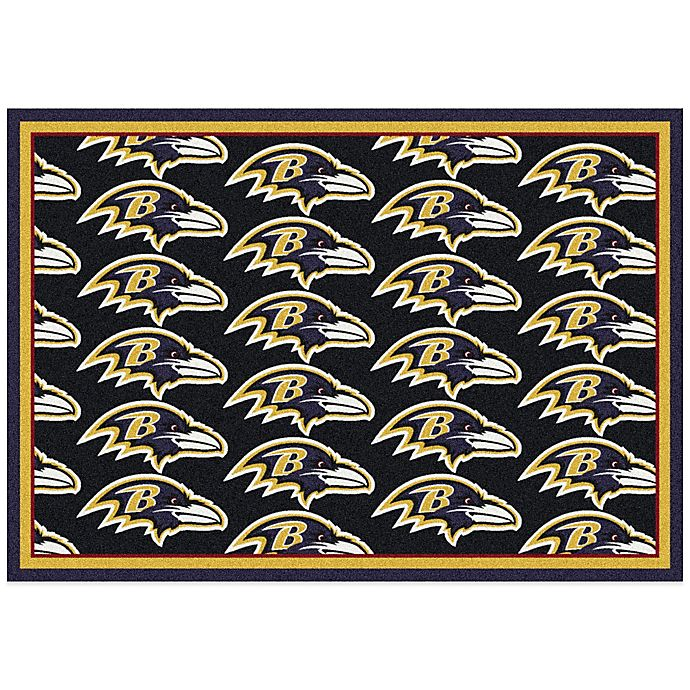 NFL Baltimore Ravens Repeating Area Rug
