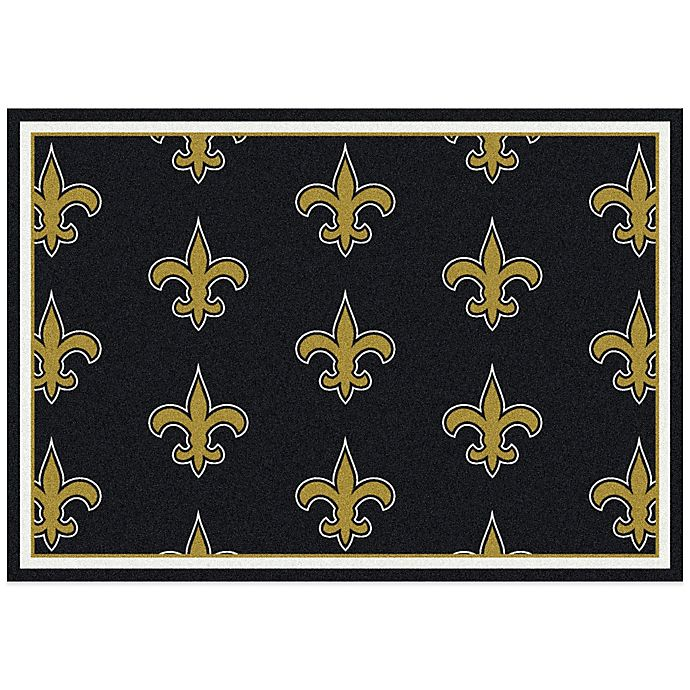 Nfl Area Rugs: NFL New Orleans Saints Repeating Area Rug