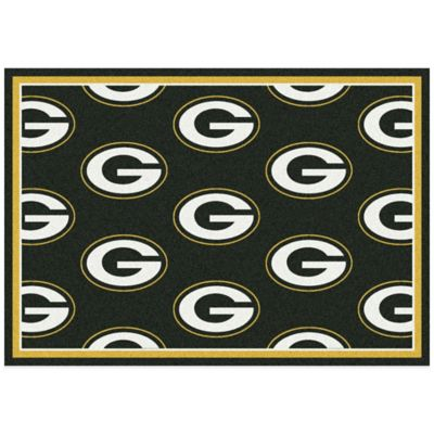 Nfl Green Bay Packers Repeating Area Rug Bed Bath Amp Beyond