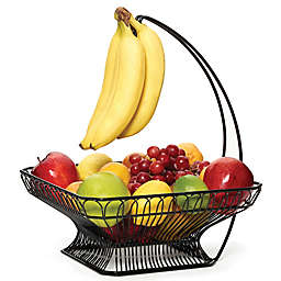 Gourmet Basics By Mikasa Reg French Countryside Fruit Basket With Banana Hook