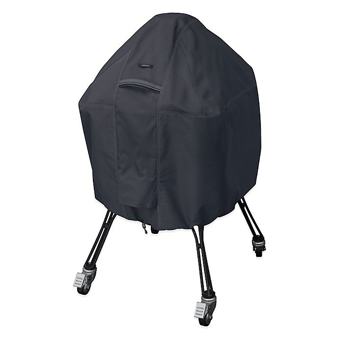 Alternate image 1 for Classic Accessories® Large Polyester Ravenna BBQ Grill Cover in Black