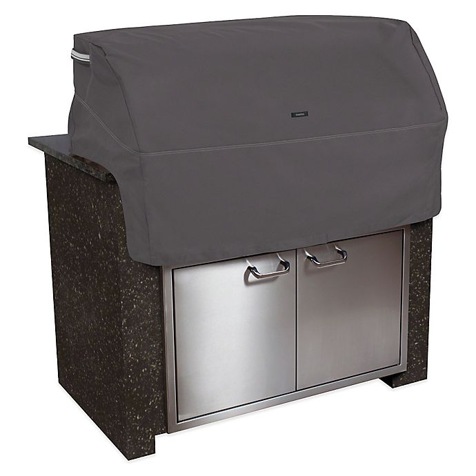Alternate image 1 for Classic Accessories® Small Polyester Ravenna Built-in BBQ Grill Top Cover in Taupe