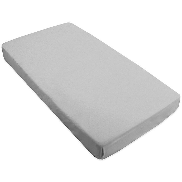 Buy Kushies Flannel Crib Sheet in Grey from Bed Bath & Beyond