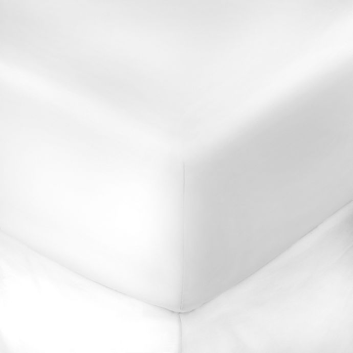 Alternate image 1 for 400-Thread-Count 60-Inch x 80-Inch with 15-Inch Deep-Pocket  Queen Fitted Sheet in White