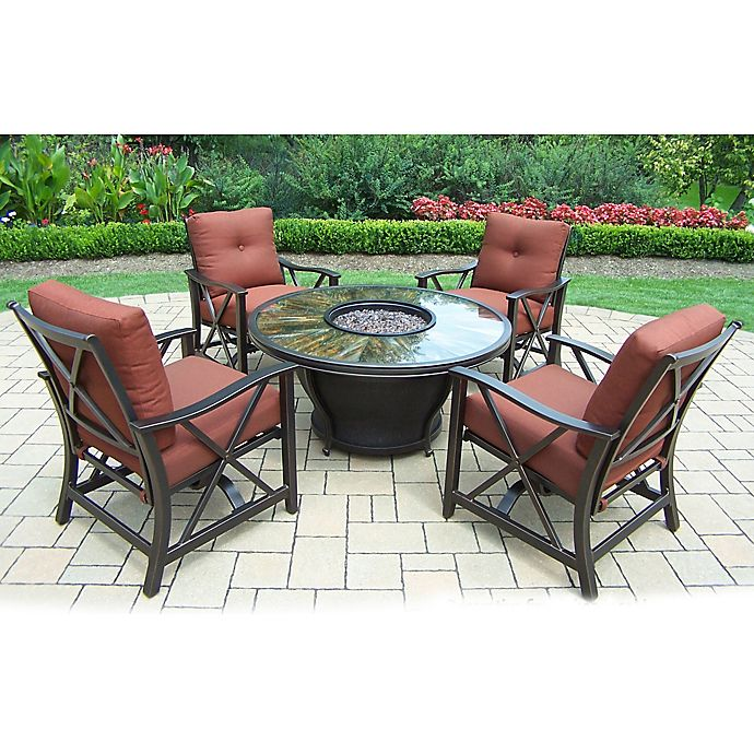 Alternate image 1 for Oakland Living Sunray 5-Piece Fire Pit Conversation Set