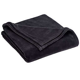 Vellux® Sheared Mink Full/Queen Blanket in Charcoal
