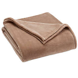 Vellux® Sheared Mink King Blanket in Taupe
