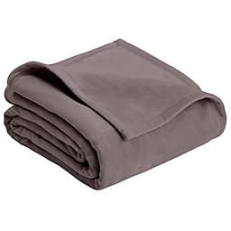 Vellux® Plush Twin Blanket in Charcoal