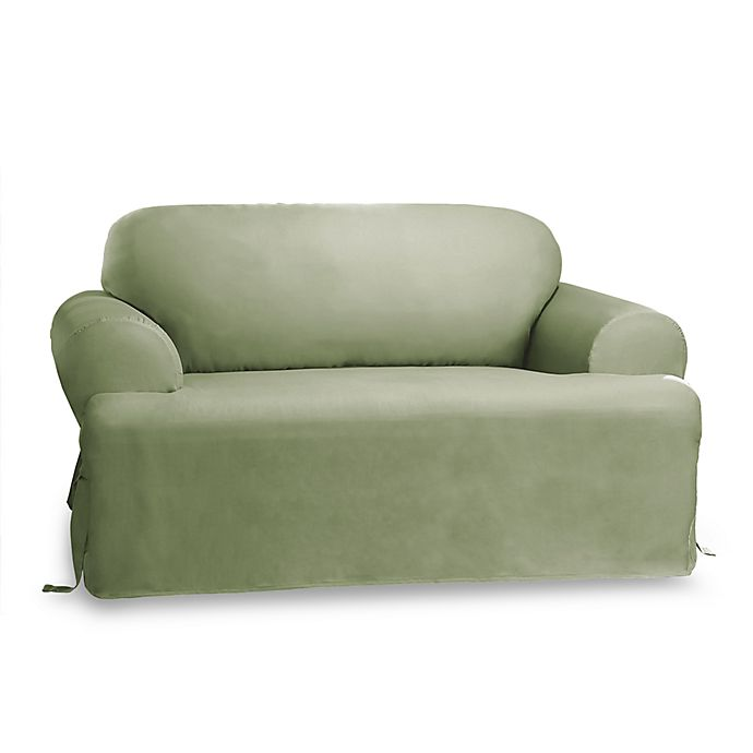 Prime Duck Sage T Cushion Loveseat Slipcover By Sure Fit Dailytribune Chair Design For Home Dailytribuneorg