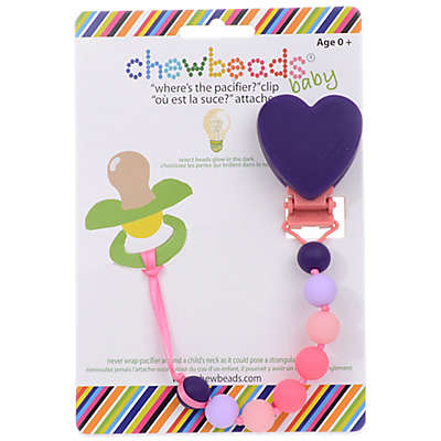 "chewbeads® Heart ""Where's the Pacifier?"" Clip"