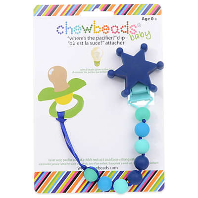 "chewbeads® Sheriff ""Where's the Pacifier?"" Clip"