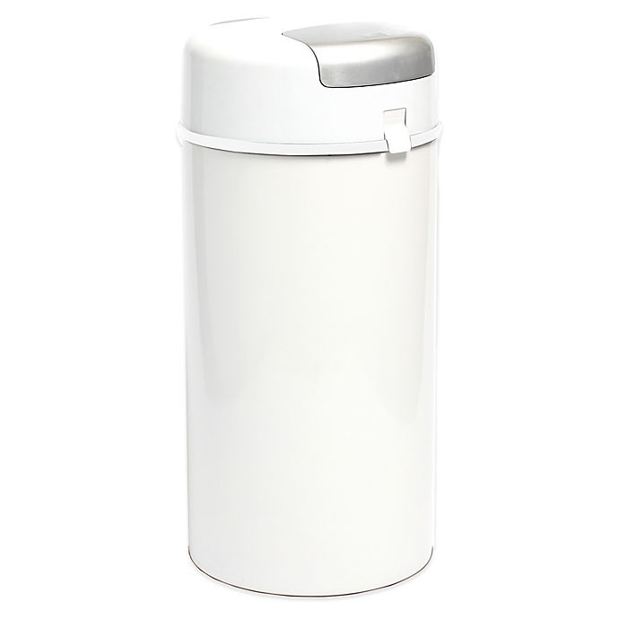 Alternate image 1 for Bubula Diaper Pail in White/Grey