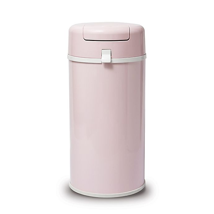 Alternate image 1 for Bubula Steel Extra Large Diaper Pail in Baby Pink