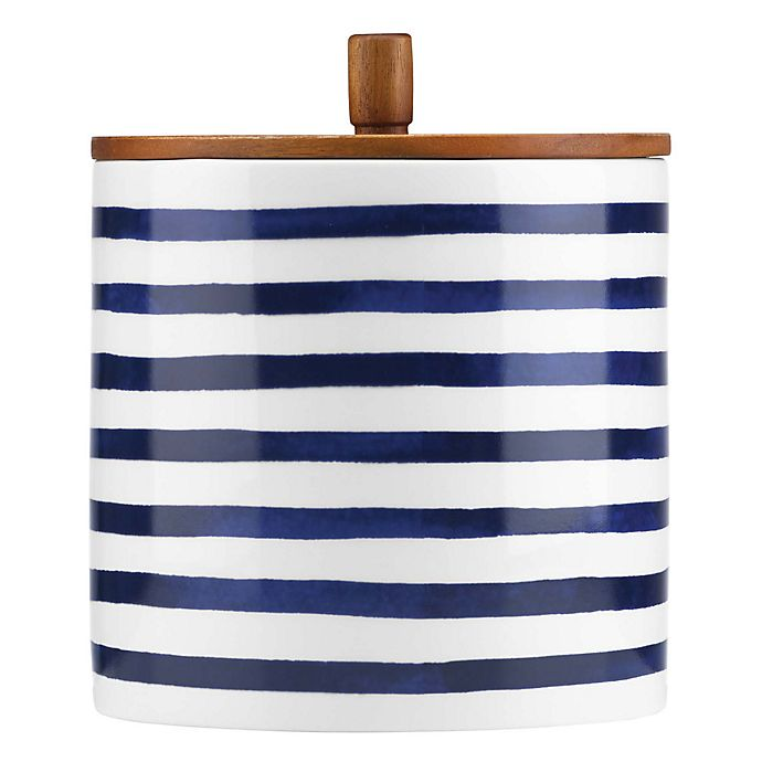 Alternate image 1 for kate spade new york Charlotte Street™ West Large Canister in Indigo