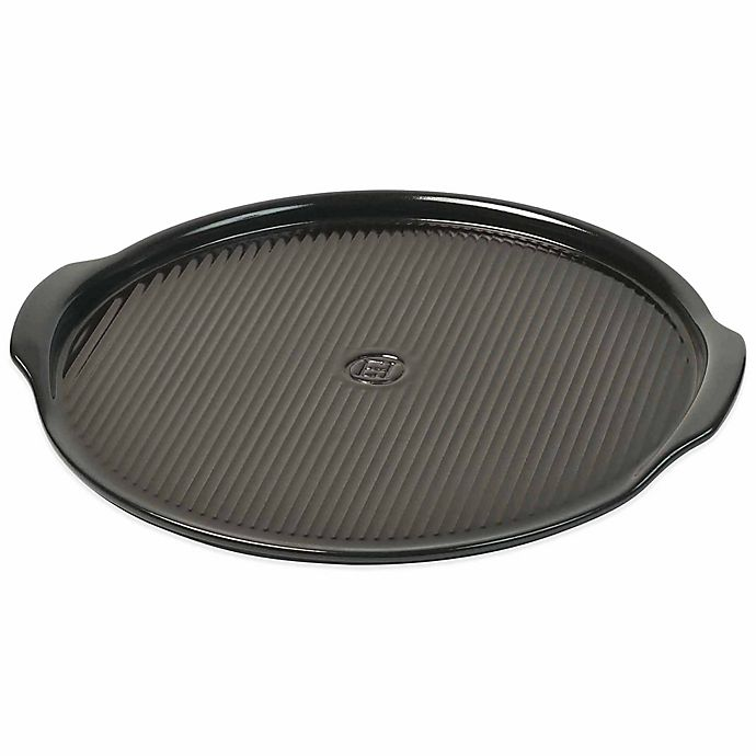 Alternate image 1 for Emile Henry Rippled 14.5-Inch Pizza Stone in Charcoal