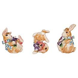 Fitz and Floyd® Halcyon Bunny Tumblers (Set of 3)