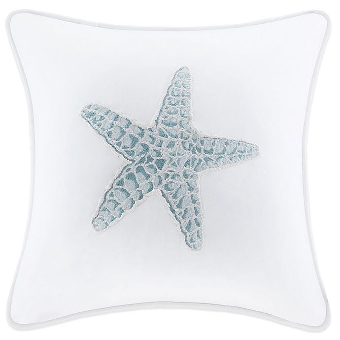 Alternate image 1 for Harbor House Maya Bay Embroidered Square Throw Pillow