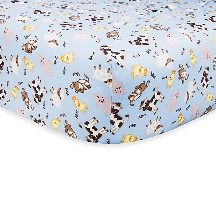 Alternate image 1 for Trend Lab® Baby Barnyard Fitted Crib Sheet