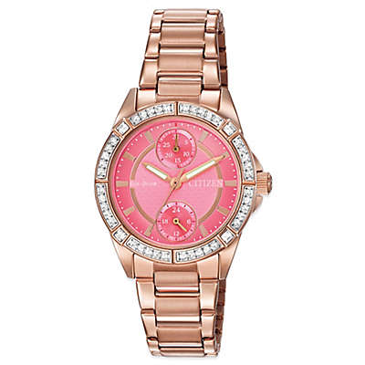 Citizen Drive from Eco-Drive Ladies' 33mm POV Swarovski® Watch in Rose Goldtone Stainless Steel