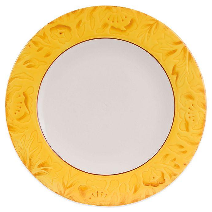Alternate image 1 for Fitz and Floyd® Flower Market Dinner Plate in Naples Yellow
