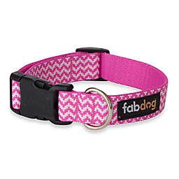 Fab Dog® Medium Chevron Collar in Pink